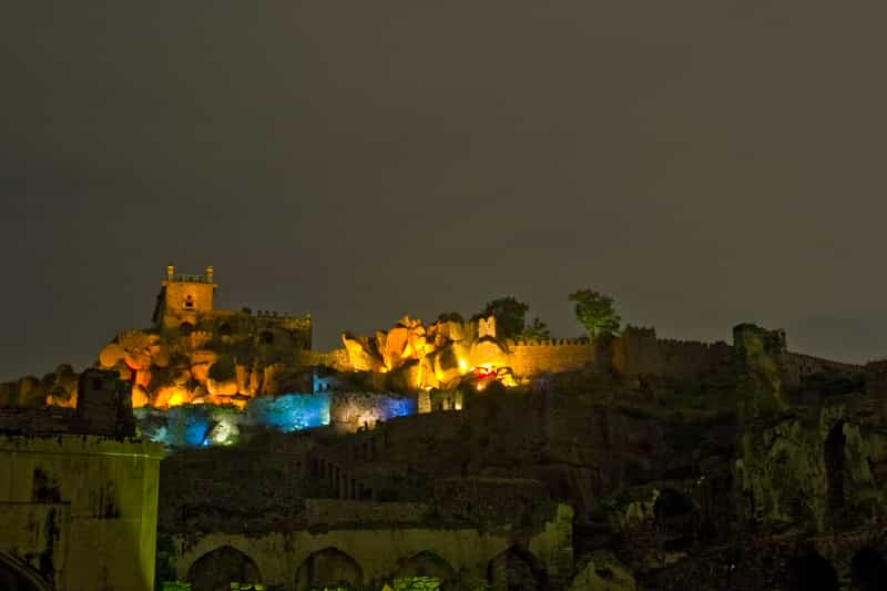 The sound & light show at Golconda Fort