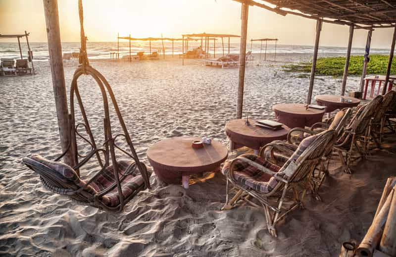 Enjoy the sun and sand all day at a beach shack