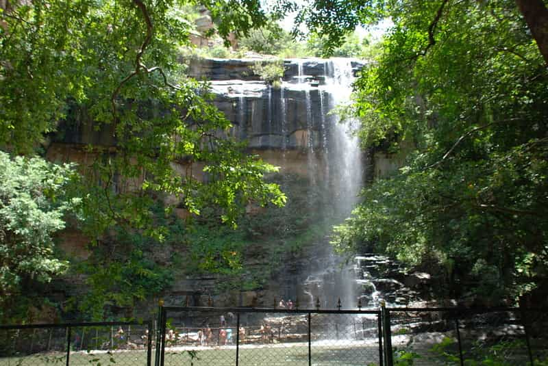 Explore the waterfalls in Mallela Theertham
