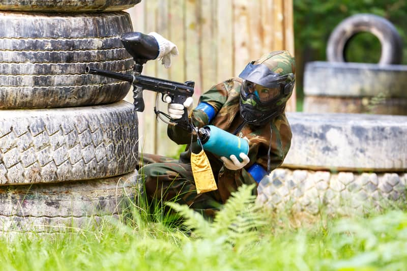 For a fun filled time, give paintball a shot