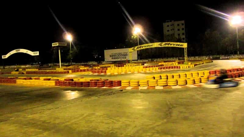 Go-karting at night is a great way to get your adrenaline pumping