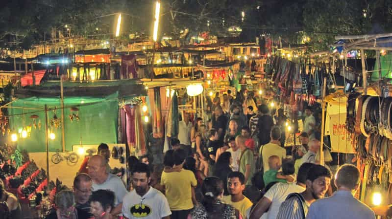 Goa is famous for its night markets