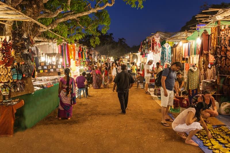 Head to Arpora night market for an evening of fun