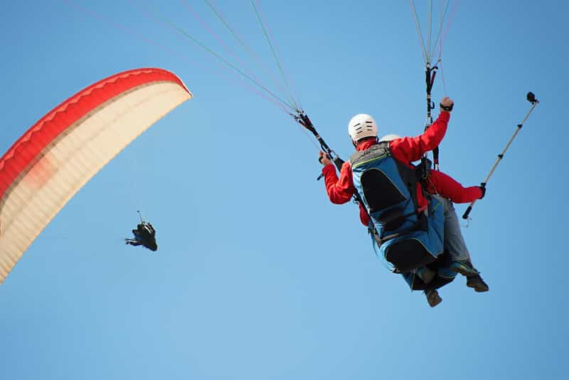 Hyderabad has a number of paragliding options