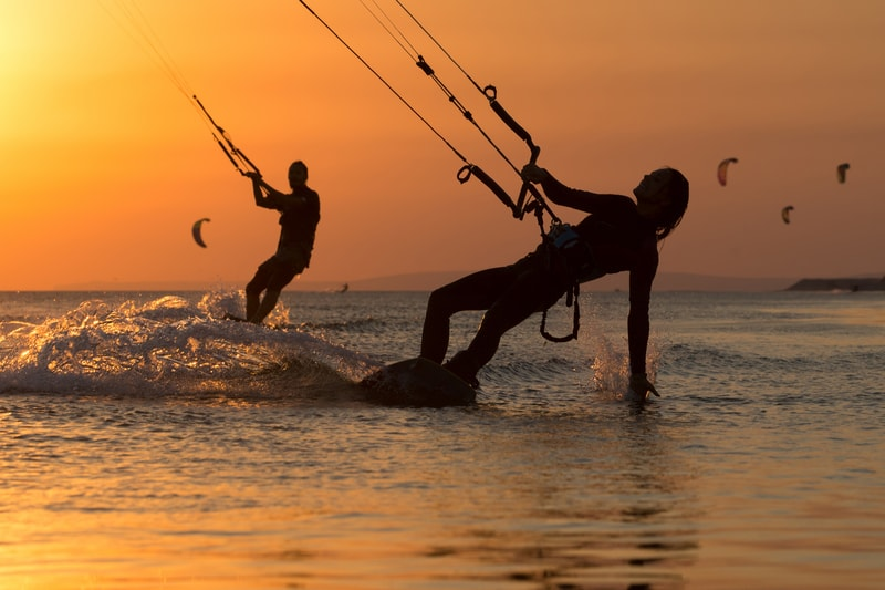 Kite surfing is a fun sport to try when you visit Goa