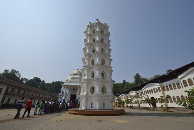 Lamp Tower at the Sri Mangueshi Temple