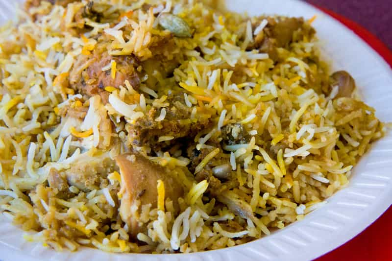 One of the oldest places serving the traditional and famous Hyderabadi Biryani is Alhamdulillah Hotel