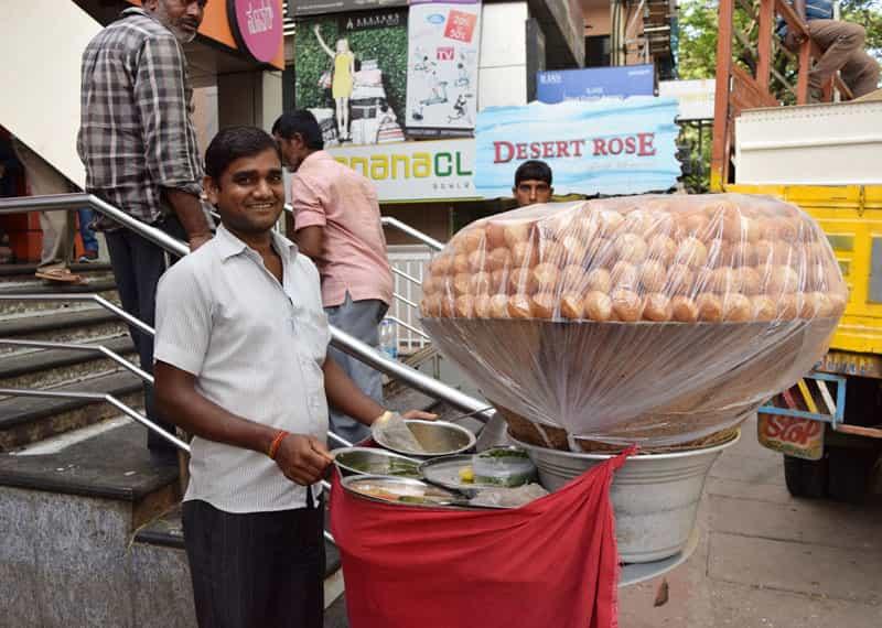 Pani puri in Bangalore