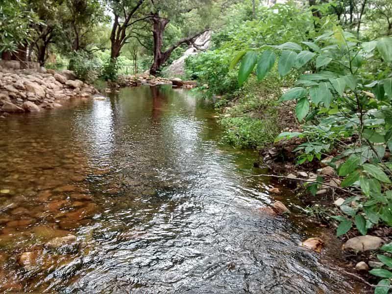 Path of the water at Tada Falls