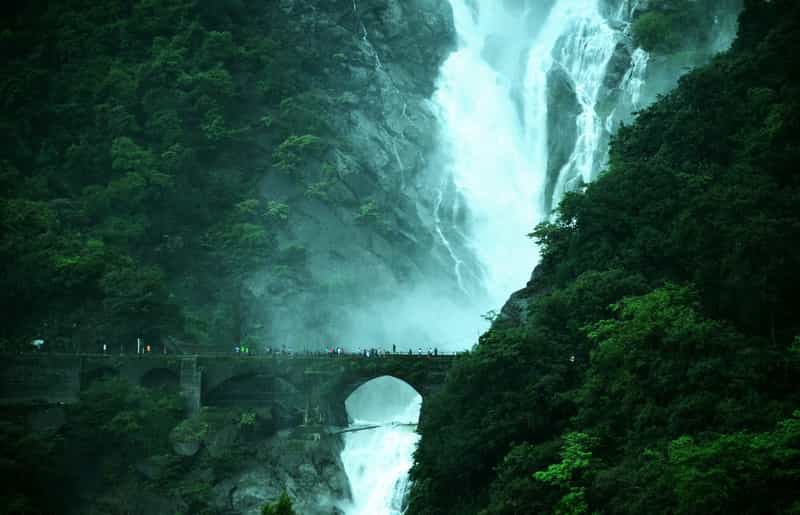 Railway Bridge at the Dudhsagar Waterfalls
