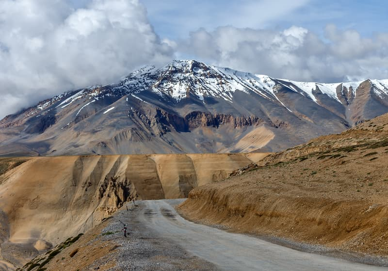 Ride through scenic mountains from Leh to Manali
