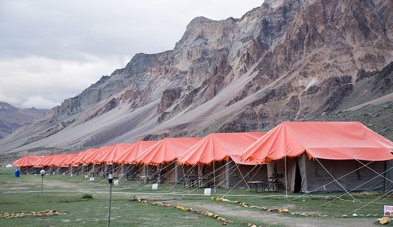Spend a night at Sarchu outdoors