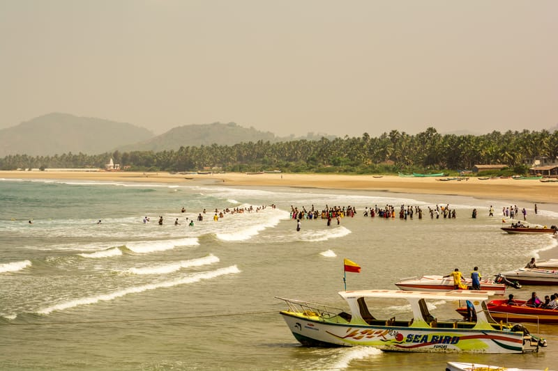 Take to the seas in a boat to try fishing in Candolim