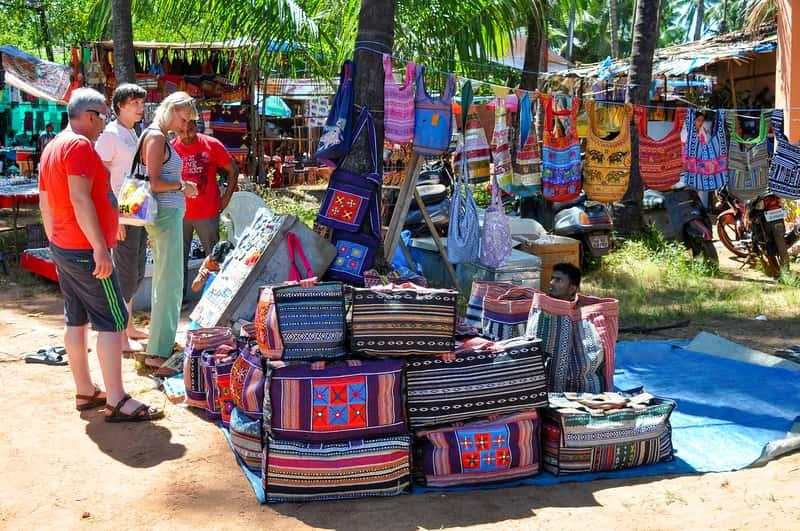 The Anjuna flea market is the most popular in Goa