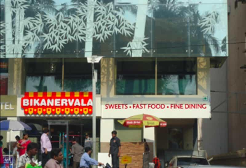 The Bikanervala store at Basheerbagh