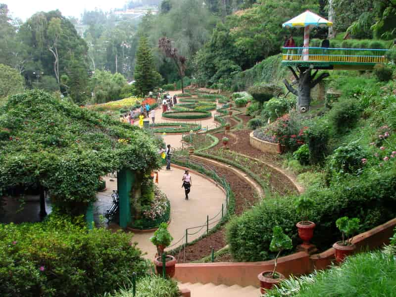 The Botanical Gardens At Ooty