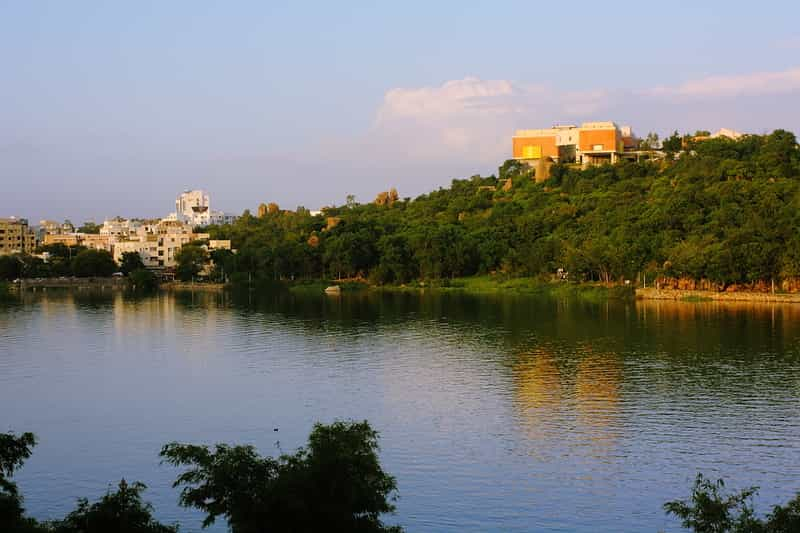 The Durgam Cheruvu Lake View From The Grin And Beer Olive Bistro