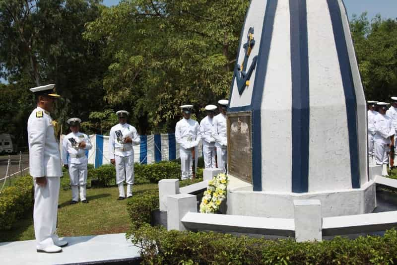 The Navy paying its respects on Goa liberation day