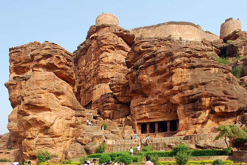 The cave entrance at Badami