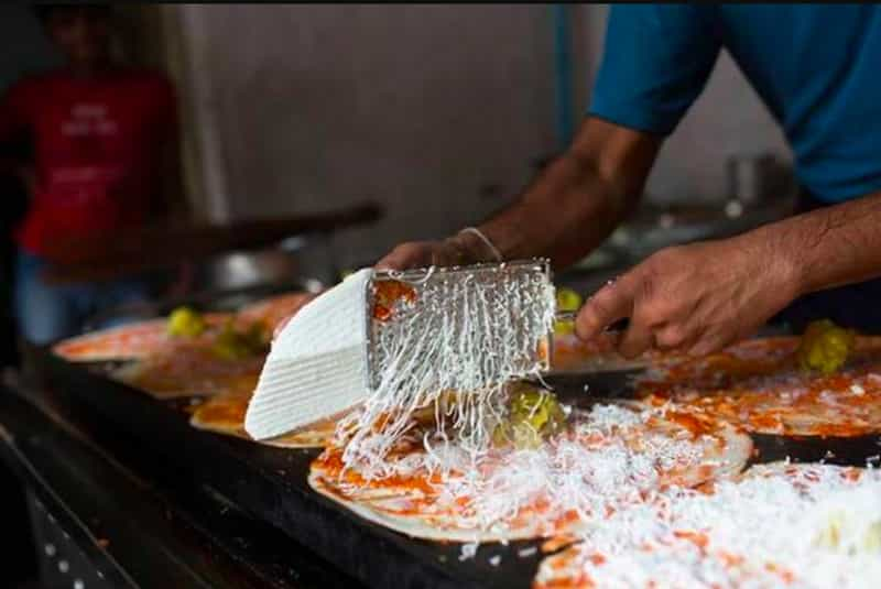 The cheese dosa at Pragati Tiffin Centre are a must try