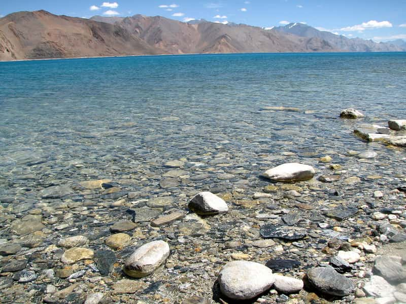 The clear and majestic Pangong Lake