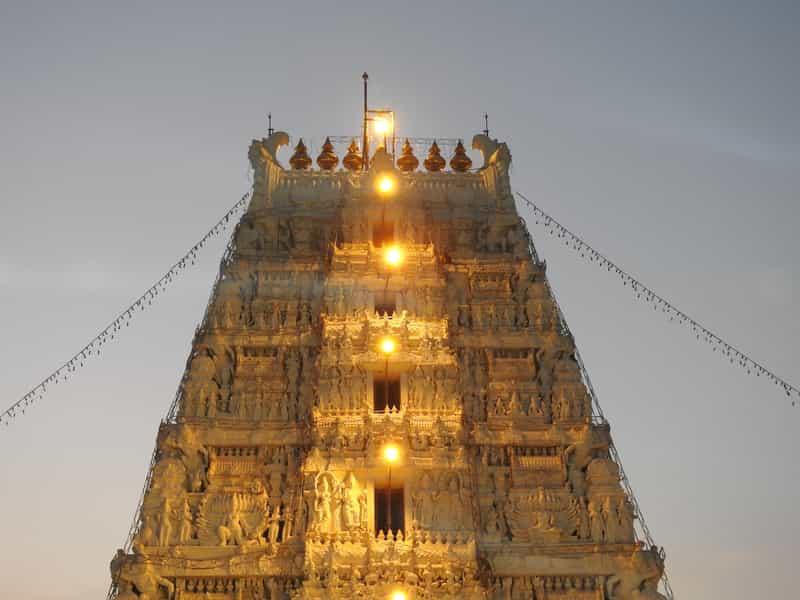 The famous Tirumala temple