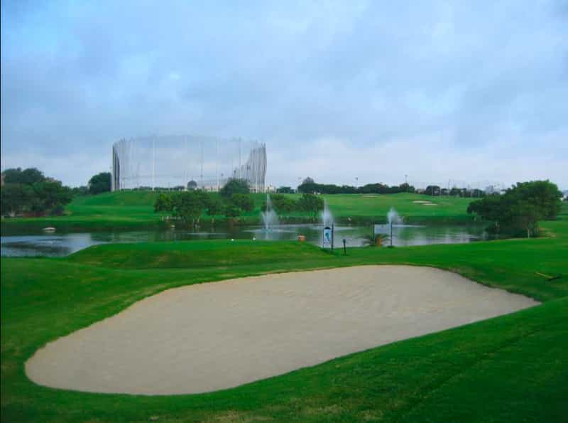 The golf course before sunset