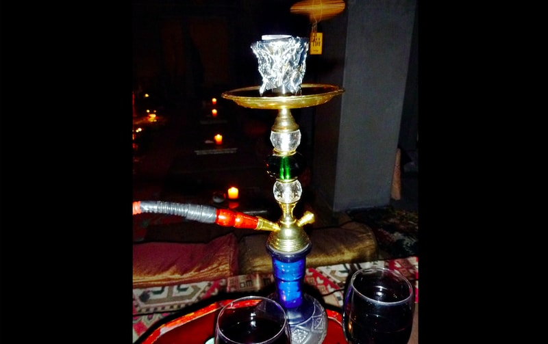 The place is filled with the essence of flavored Hookah