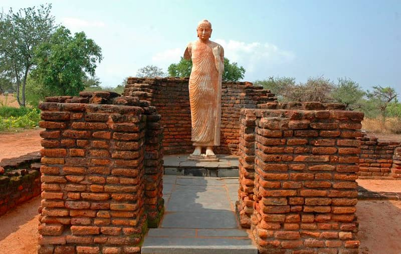 The remains of the Buddhist town at Nagarjunakonda