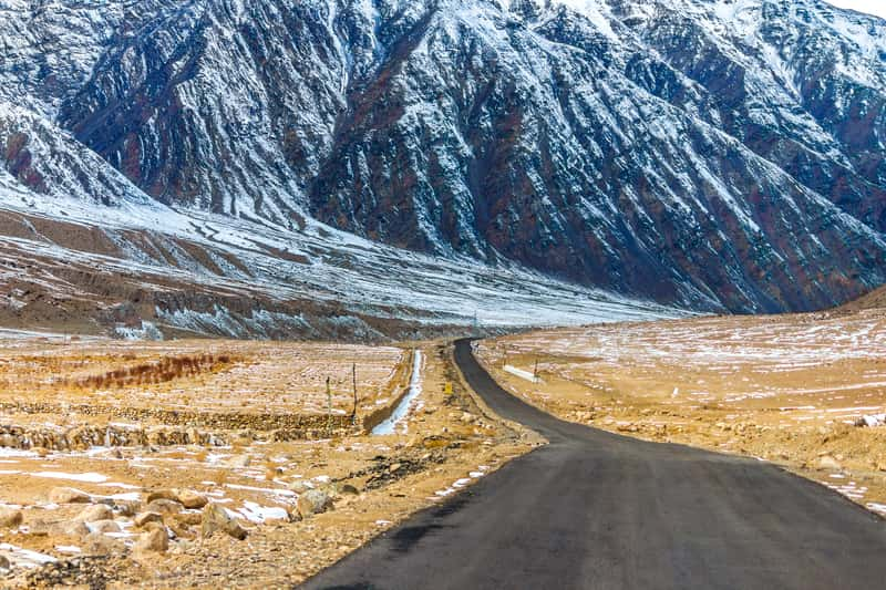 The route to Ladakh in Summer