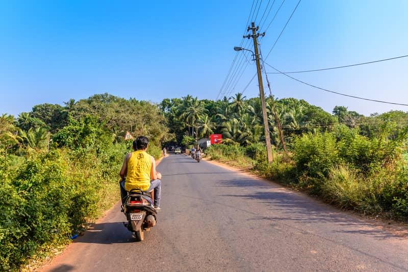 Tourists on bikes