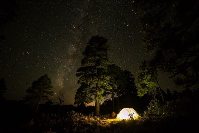 Camping at the Tada Falls