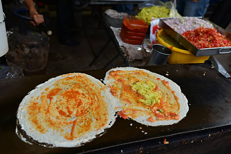 Ghee Dosa being made in Bangalore