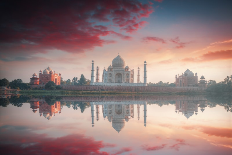 Agra is home to the world famous Taj Mahal