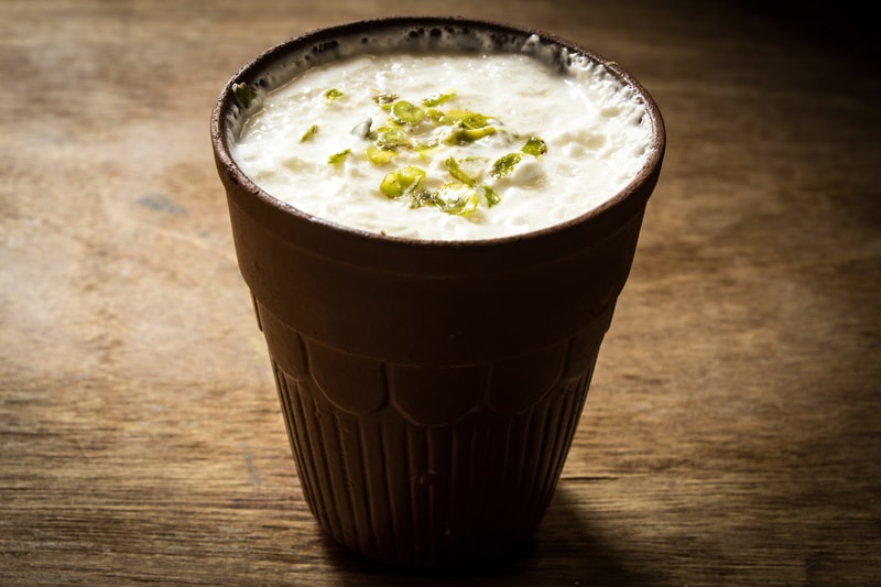 Authentic Cold Lassi topped with Nuts and Cream