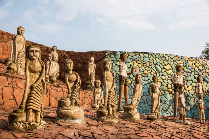 The rock garden in Chandigarh
