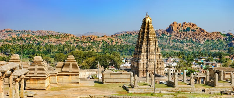 The Virupaksha Temple ruins