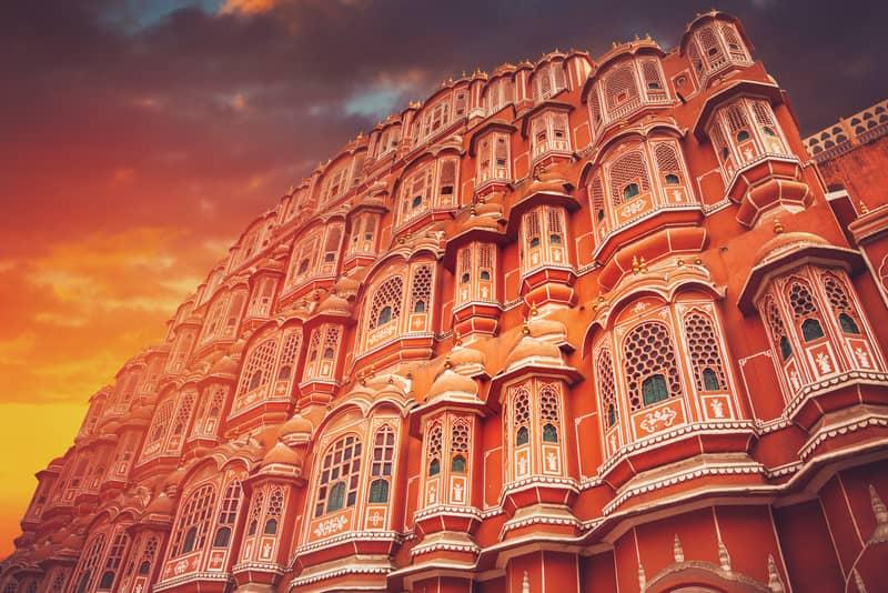 The famous Hawa Mahal