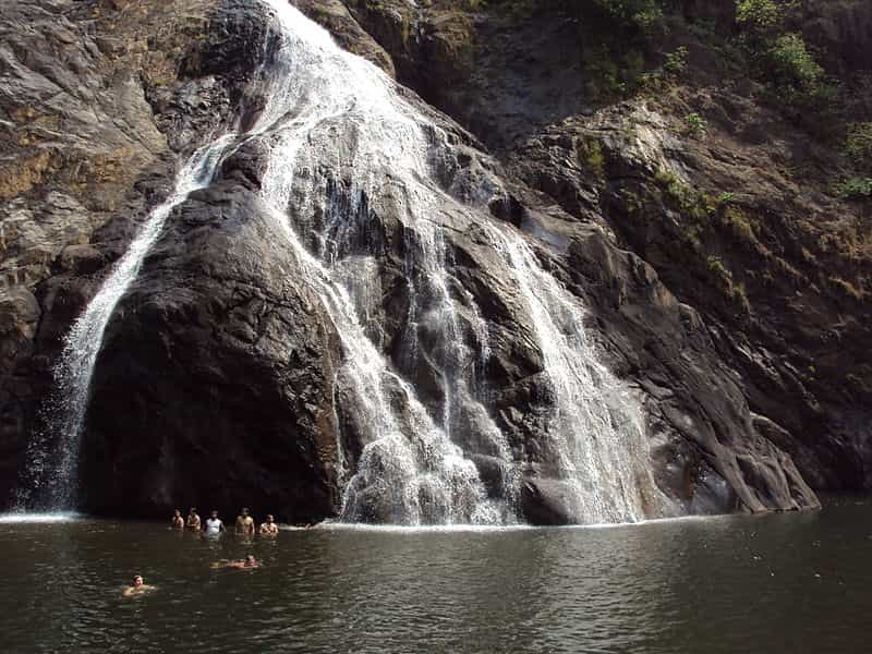 Incredibly White and Beautiful Dudhsagar Falls