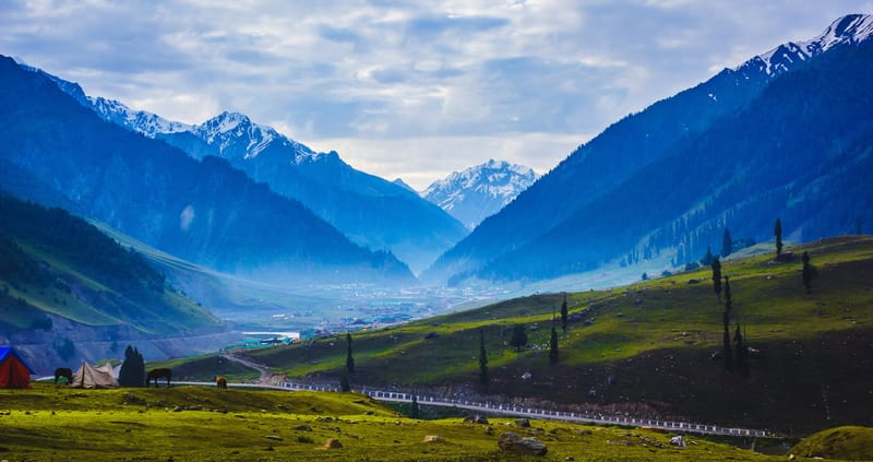 Kashmir in the summer is lush