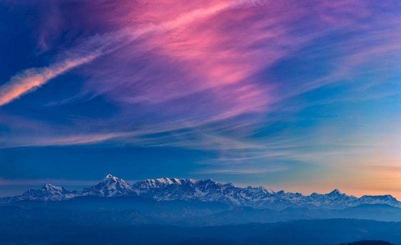 Sunrise over Kausani
