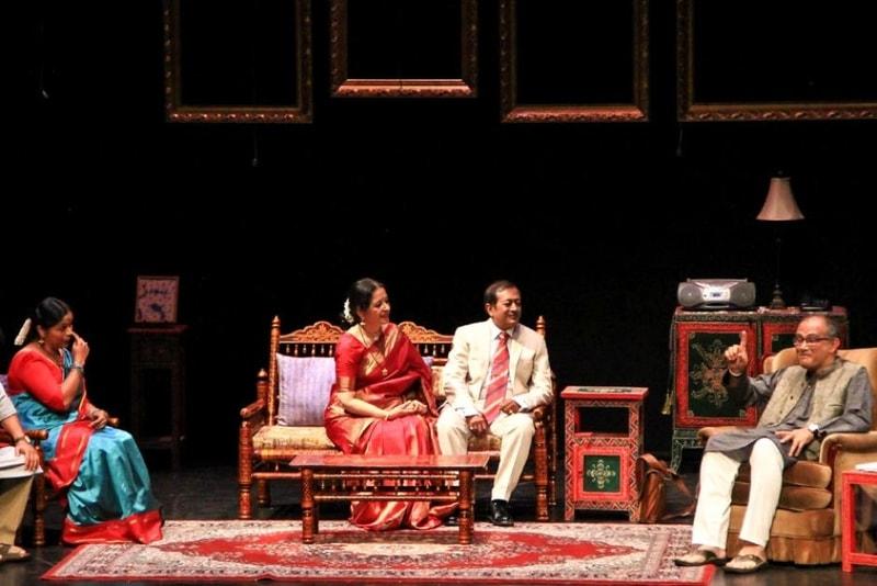 A play at the Krishna Gana Sabha