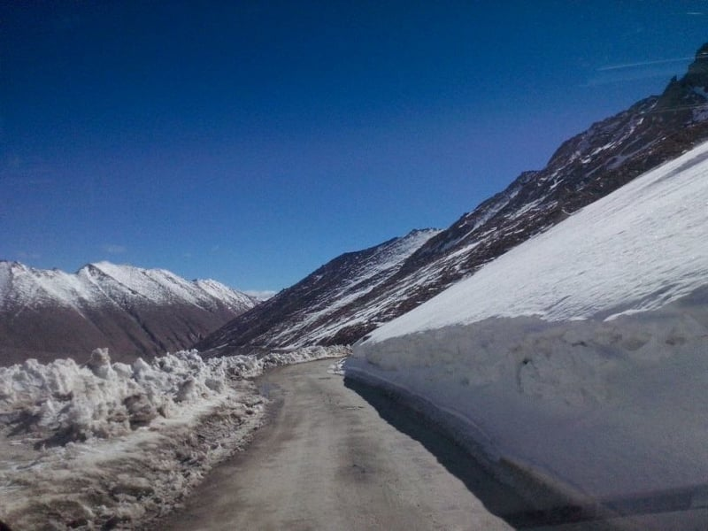 The roads are better during the Summer in Ladakh