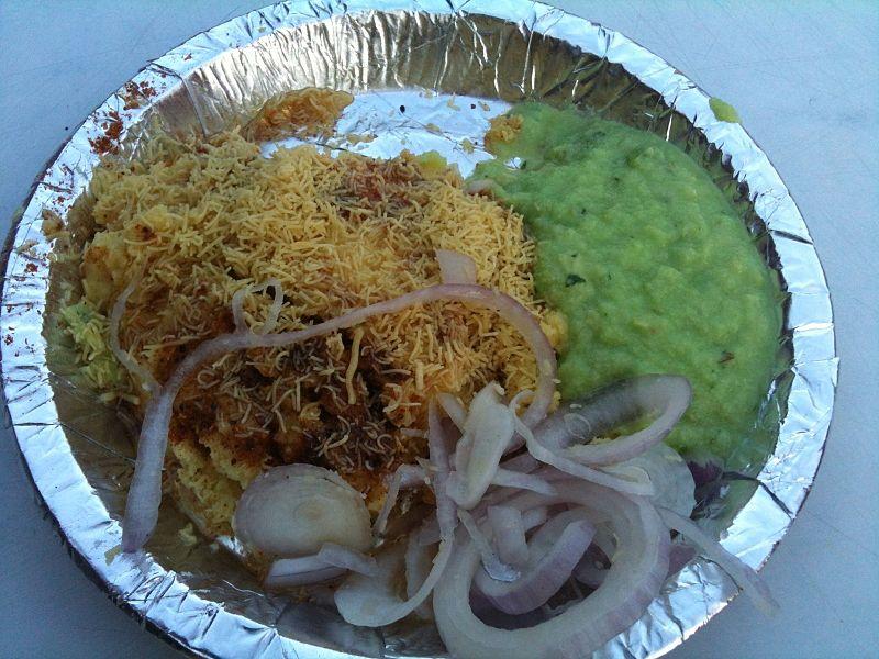 Locho on a Plate, a famous Gujarati Snack