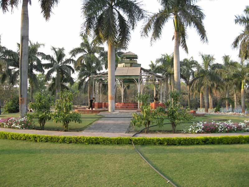 Manicured gardens at The Nehru Biological Park