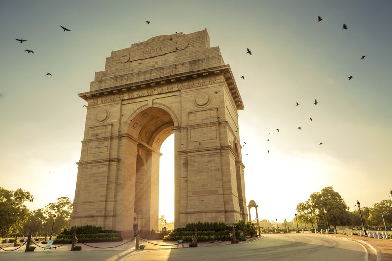 India Gate in New Delhi is a must see