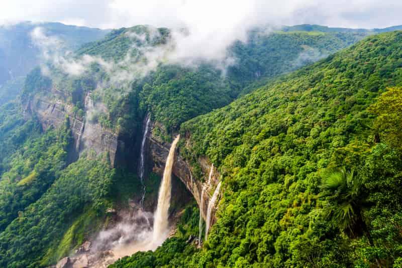 Nohkalikai Falls, Cherrapunji