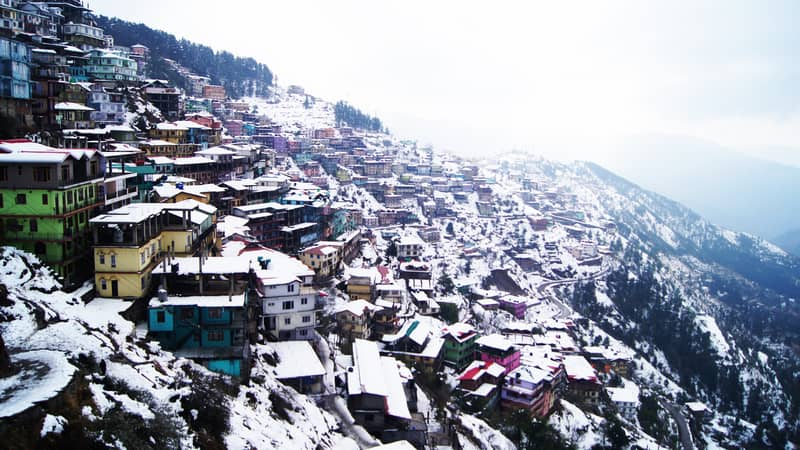 A snowy day in Shimla