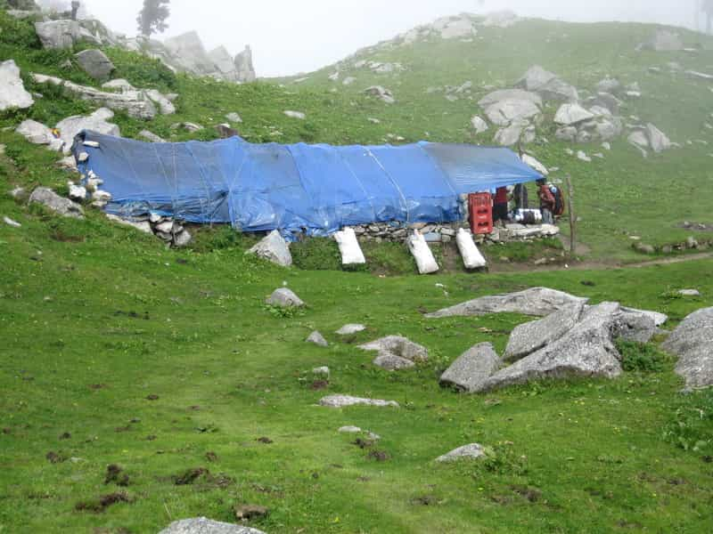 Snowline cafe after Triund