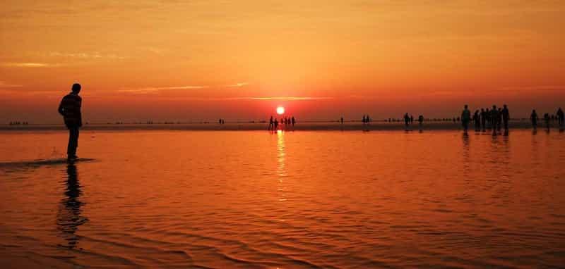 Sunset at Chandipur beach